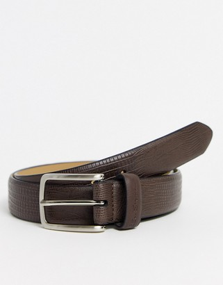 Buckle Fastening Mens Ben Sherman Reversible Basil Belt In Brown One Side