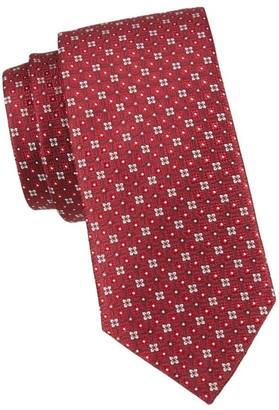 Eton Red Floral Tie