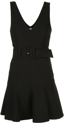 Cinq à Sept Belted V-Neck Dress