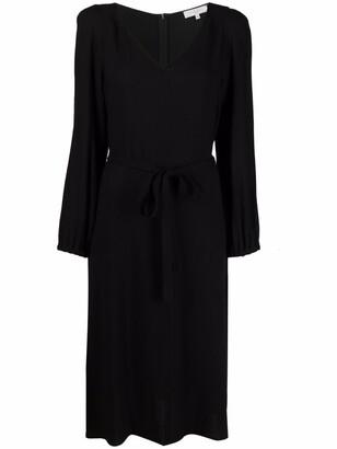 Antonelli tied-waist V-neck dress
