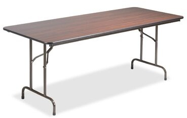 """Thumbnail for your product : Lorell 72"""" Plastic Rectangular Folding Table"""