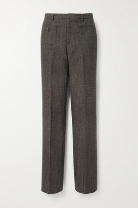 Commission Wool-tweed Straight-leg Pants - Dark brown
