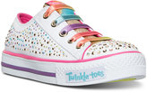 Skechers Little Girls' Twinkle Toes: Shuffles - Glitter Ombre Light-Up Casual Sneakers from Finish Line