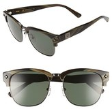 MCM Women's 55Mm Retro Sunglasses - Shiny Dark Gunmetal/ Black