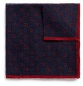 Lardini Floral print wool-silk pocket square