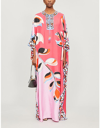 Emilio Pucci Graphic-print silk maxi dress