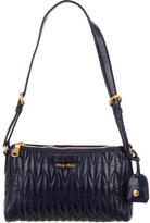 Miu Miu Matelassé Pleated Shoulder Bag