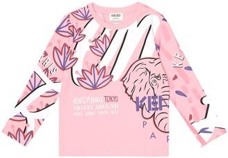 Kenzo Kids Printed cotton top