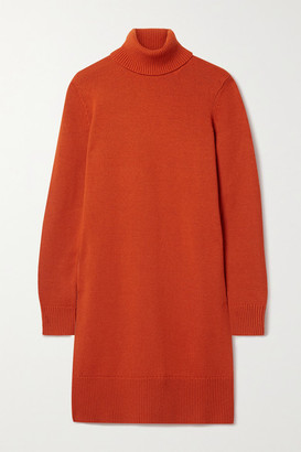 Michael Kors Collection Cashmere Turtleneck Dress - Tomato red