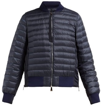 Moncler Rome Quilted-down Bomber Jacket - Womens - Navy