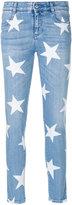 Stella McCartney star print skinny jeans - women - Cotton/Polyester - 26