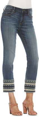 Driftwood Colette Crop Texture-Embroiderd Jeans