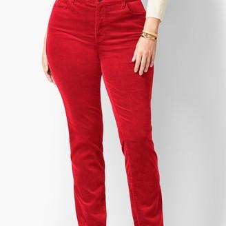 Talbots High-Rise Straight-Leg Velveteen Pant - Solid