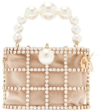 Rosantica Holli Crystal-embellished Cage Clutch Bag - Crystal