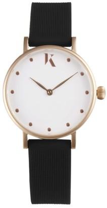 Ksana Jet Black & Rose Gold Vegan Watch - 30mm