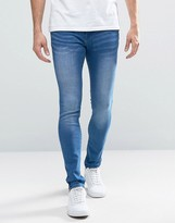 WÅVEN Electric Blue Spray On Jeans