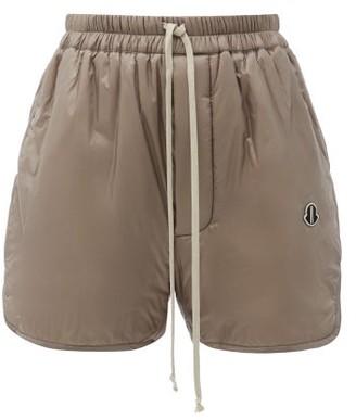 Moncler + Rick Owens - Elasticated-waist Padded Shell Shorts - Brown