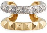 Roberto Coin 18k Rock & Diamond Double-Row Ring