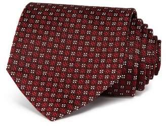 Ermenegildo Zegna Floral Grid Silk Classic Tie