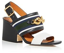 Tory Burch Women's Jessa Slingback Block-Heel Sandals