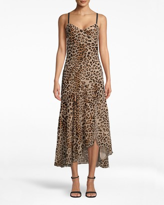 Nicole Miller Leopard Burnout Slip Dress