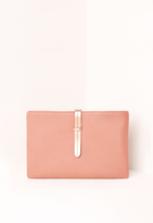 Missguided Simple Line Strap Clutch Bag Blush Pink