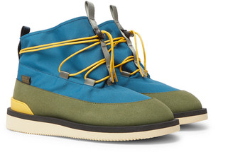 Suicoke Aime Leon Dore Hobbs Faux Shearling-Lined CORDURA and PU Boots - Men - Blue