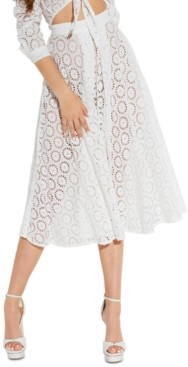 GUESS Noemi Cotton Eyelet Skirt