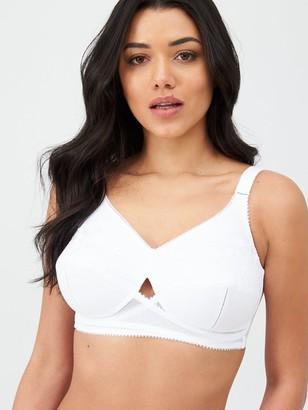 Berlei Cotton Total Support Non Wire Bra - White