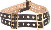 Michael Kors Leather Buckled Waist Belt