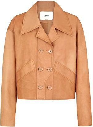 Fendi Double-Breasted Tonal Jacket