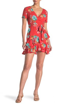 Love, Nickie Lew Double Ruffle Hem Floral Print Dress