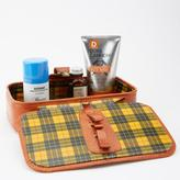 Blade + Blue Vintage 1960's Leather Dopp Kit with Plaid Lining