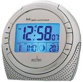 Acctim 71260 Zenith Radio Controlled Alarm Clock, Silver