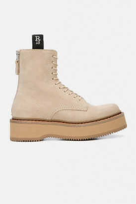 R 13 Suede Single Stack Boot