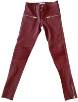 Anine Bing Fall Winter 2019 Red Leather Trousers for Women