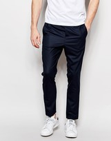 Jack & Jones Premium Trousers With Stretch And Elasticated Waist In Slim Fit