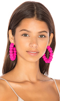Mercedes Salazar Candonga Hoop Earrings in Fuchsia.