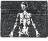 Etro skeleton print cardholder - men - Cotton/Calf Leather/Nylon/PVC - One Size