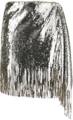 Pinko Sequin Asymmetric Skirt