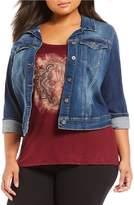 Jessica Simpson Plus Pixie Denim Jacket