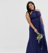 TFNC Plus Plus bridesmaid exclusive multiway maxi dress in navy