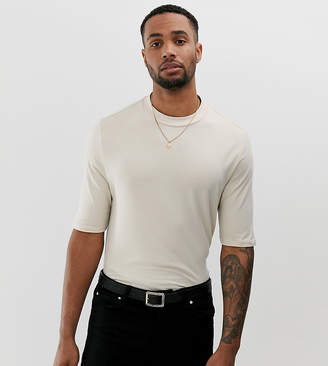 BEIGE Asos Design ASOS DESIGN Tall organic smart slim fit t-shirt in
