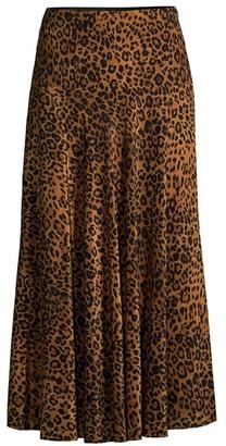 Lafayette 148 New York Alba Leopard-Print Silk Skirt