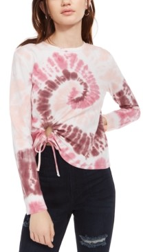 Self Esteem Juniors' Cropped Tie-Dyed T-Shirt