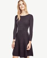 Ann Taylor Petite Extrafine Merino Wool Flare Sweater Dress