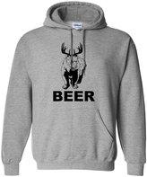 Go All Out Screenprinting Adult Bear + Deer = Beer Mac Sunny Hooded Sweatshirt Hoodie