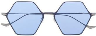 Yohji Yamamoto Geometric Frame Sunglasses