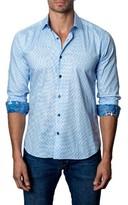 Jared Lang Men's Trim Fit Dot Sport Shirt