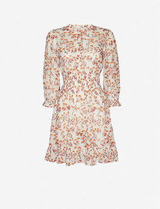 Maje Rythona floral-print woven mini dress